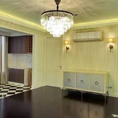 Khun Bow House:  ห้องนั่งเล่น โดย HOMEMAX THE BUILDER, ผสมผสาน