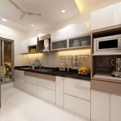 Sudhir Zaware's Residence interior:  Kitchen by Square 4 Design & Build