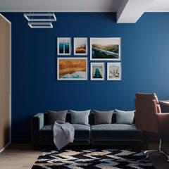 Дизайн-проект квартиры 153м2 в стиле лофт: Рабочие кабинеты в . Автор – ТОО 'ПРОФИТ', Лофт