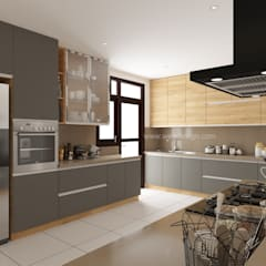 The Promont (Tata Housing) :  Kitchen units by Wea Design