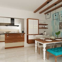 SOBHA PROJECT:  Dining room by Wea Design,