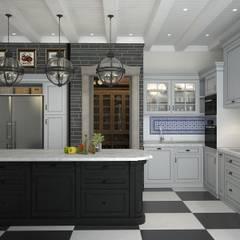 Шале с террасой: Кухни в . Автор – Novik Design