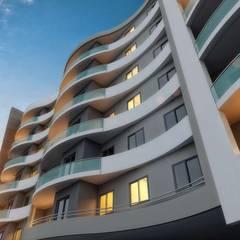 ANTE MİMARLIK  – Coşkun İnşaat - AYDIN:  tarz Bitişik ev