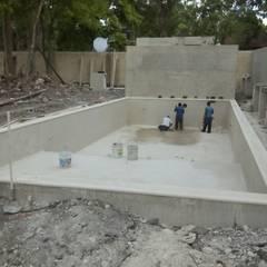 مسبح حديقة تنفيذ Diseño de Espacios y ambientes Confortables
