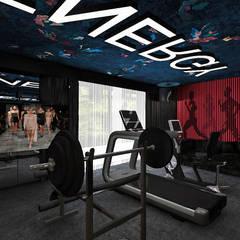 THE OTHER SIDE OF THE COIN | II | Wnętrza domu Nowoczesna siłownia od ARTDESIGN architektura wnętrz Nowoczesny