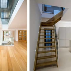 Extension, Basement and Interior Refurbishment – Clapham:  Stairs by Armstrong Simmonds Architects