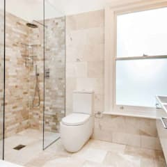 Bathroom Extension, Basement and Interior Refurbishment – Clapham:  Bathroom by Armstrong Simmonds Architects