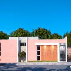 Casas pequeñas de estilo  por RIALD arquitectos