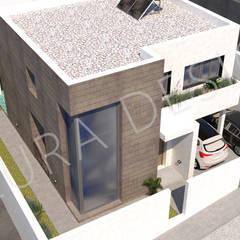 FACHADA PRINCIPAL: Casas unifamilares de estilo  de LILURA DESIGN