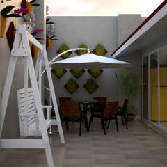 Balcón de estilo  por SCK Arquitetos, Moderno