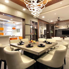 Villa 29:  Dining room by F.Quad Architecture and Interior Design Studio,