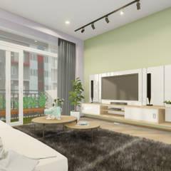 Residential Unit - Apartment:  Living room by Trenocon Sdn Bhd