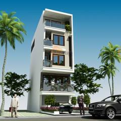 Thiết kế nhà phố 5 tầng đẹp 4,8x14m ở Cao Bằng – NP 135:  Biệt thự by CÔNG TY CỔ PHẦN XD&TM KIẾN TẠO VIỆT, Hiện đại