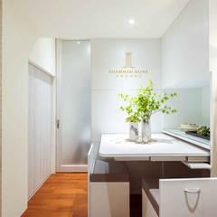 純白簡約  機能小套:  餐廳 by 沙瑪室內裝修有限公司