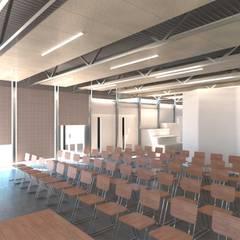 Un bar con consumo energético casi nulo, bajo estándar Passivhaus: Salones de eventos de estilo  de Divers Arquitectura, especialistas en Passivhaus en Sabadell