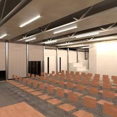 Salones de eventos de estilo  por Divers Arquitectura