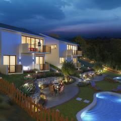 Luxury Housing - Isle of Wight - England - Night:  Country house by Panoviz Studios