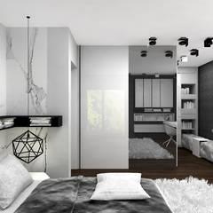 monochromatyczna aranżacja pokoju młodzieżowego: styl , w kategorii Pokój młodzieżowy zaprojektowany przez ARTDESIGN architektura wnętrz