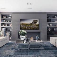 Apartamento decorado Salas de estar ecléticas por Anne Báril Arquitetura Eclético