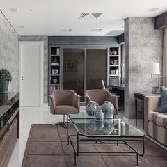 Apartamento decorado Salas de jantar ecléticas por Anne Báril Arquitetura Eclético