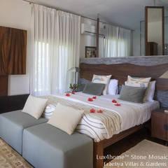 Kamienne umywalki i wanny z kamienia w łazience hotelowej i SPA: styl , w kategorii Sypialnia zaprojektowany przez Lux4home™