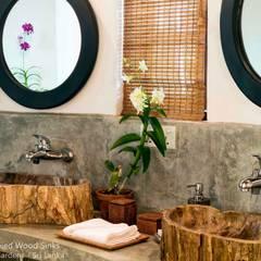 Kamienne umywalki i wanny z kamienia w łazience hotelowej i SPA Wiejska łazienka od Lux4home™ Wiejski