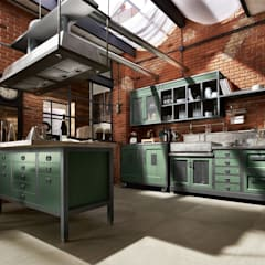 Kitchen by Dialma Brown México, Industrial Solid Wood Multicolored