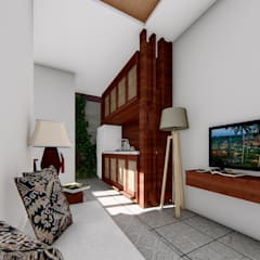 living room:  Ruang Komersial by Aper design