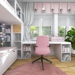 Pokój dwóch dziewczynek: styl , w kategorii Pokój dla dziwczynki zaprojektowany przez Projektowanie Wnętrz Online