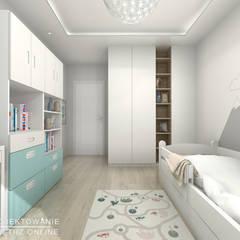 غرفة نوم أولاد تنفيذ Projektowanie Wnętrz Online , حداثي
