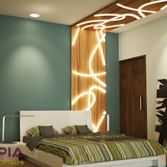 Interior design for MR.Sanjay:  Bedroom by Utopia Interiors & Architect