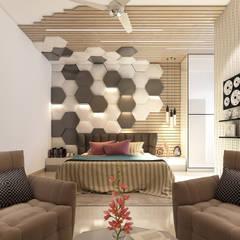 غرف نوم صغيرة تنفيذ Goswami Decor