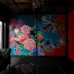 COLORS: キューボデザイン建築計画設計事務所が手掛けた和室です。,