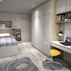 Hougang Street 22:  Small bedroom by Swish Design Works,