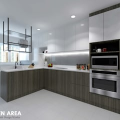 Hougang Street 22:  Built-in kitchens by Swish Design Works,Modern