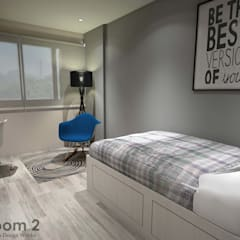Hougang Street 22:  Small bedroom by Swish Design Works,Minimalist
