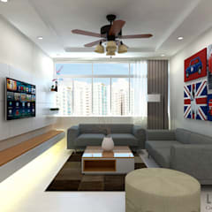 Ang Mo Kio Ave 10:  Living room by Swish Design Works,Classic