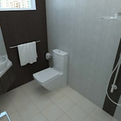 Ang Mo Kio Ave 10:  Bathroom by Swish Design Works,Classic