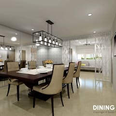 Ang Mo Kio Ave 3:  Dining room by Swish Design Works,
