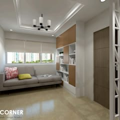 Ang Mo Kio Ave 3:  Corridor, hallway by Swish Design Works