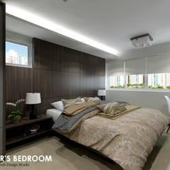 Ang Mo Kio Ave 3:  Small bedroom by Swish Design Works,Scandinavian