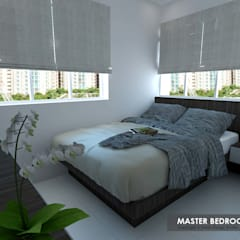 Potong Pasir Ave 1:  Small bedroom by Swish Design Works