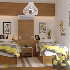 Girls Bedroom توسطAmiraNayelDesigns, مدرن