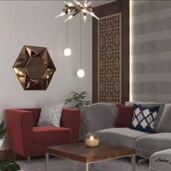 تصميم غرفة معيشة:  غرفة المعيشة تنفيذ AmiraNayelDesigns, حداثي