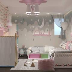 تصميم غرفة نوم :  غرفة نوم بنات تنفيذ AmiraNayelDesigns, حداثي