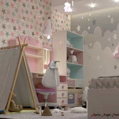 Girls Bedroom by AmiraNayelDesigns