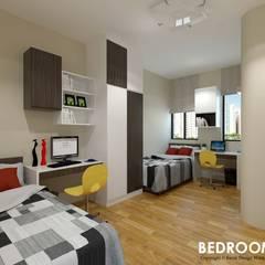 Neram Crescent :  Bedroom by Swish Design Works,
