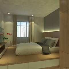 Canberra Crescent:  Bedroom by Swish Design Works,