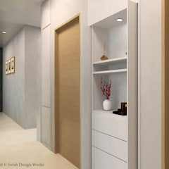 Sennett Residence:  Corridor, hallway by Swish Design Works,