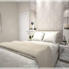 Phòng ngủ nhỏ by BRUNA MARTINS Arquitetura + Interiores + Paisagem